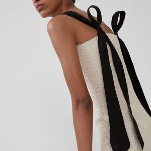 Zara tube dress with tied straps